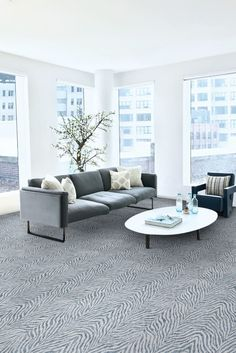 Our bold animal print carpet is just the thing you need for your living room! Our Boteti On Trend Carpet in Arctic is a chic carpet for contemporary living rooms! The contrasting ivory color that accompanies its base background has been carefully selected to produce the highest quality of fashion aesthetic for your home. It retails starting at $5.99 SQ FT.