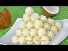 Cum sa faci Bomboane Raffaello de casa Reteta scrisa detaliata pas cu pas aici http://www.culinar.ro/retete/dulciuri/bomboane-figurine/bomboane-raffaello-de-...