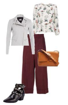 Capsule Closet   Abril 2016   Day 14 (Bordeaux culottes, black ankle boots, camel bag, floral blouse, white jacket)
