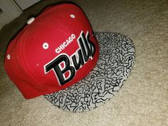 New Era Red Chicago Bulls Logo 9Fifty Snapback Hat  fashion  clothing   shoes   5867e5f6d1
