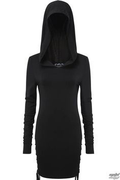 9a2b8f3dc2 The moon guided me home.- Over-Sized Hood.- Embroidery Black-On-Black  Detailing.- Lace-Up Side Fe