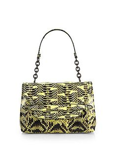 17acefaf209a Bottega Veneta - Ayers Snakeskin Small Shoulder Bag