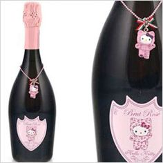 Hello Kitty wine bottle - see more alcoholic Hello Kitty beverages here: www.
