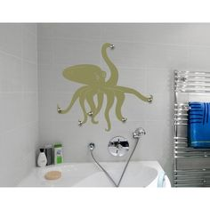 Style and Apply Octopus Wall Hanger Decal Art Home Decor ( 28in x 26in)