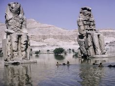 Colossi of Memnon, Necropolis of Thebes, Egypt, 1965