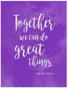 Great Things - Mother Teresa Diversity Quote Poster. Fine Art Print For Classroom, Library, Home or Dorm - Echo-Lit