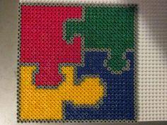 Puzzle Hama perler beads by Sebastien Herpin