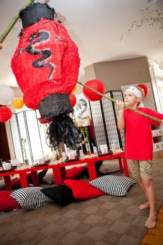 Lego Ninjago birthday party theme | We had a custom pinata (by Partylicious ) made for the party. The ...