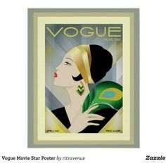 Vogue Movie Star Poster ($13) ❤ liked on Polyvore featuring home, home decor, wall art, framed wall art, paper wall art, framed posters and framing posters