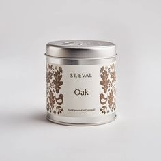 Oak, Folk Scented Tin Candle – ST. EVAL Tin Candles, Scented Candles, English Gifts, Kraft Packaging, Luxury Candles, Candle Companies, House Smells, Handmade Candles, Burning Candle