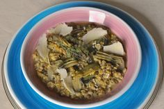 Minestra di cereali e carciofi