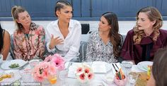 Game Changers united: Lea and Jaime nodded sagely as Zendaya shared some words of wisdom...