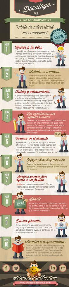 Decálogo de Una Actitud Positiva #infografia por José Ingacio Perier (@José Ignacio) (pinned by @Ricardo Llera)