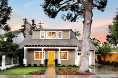 Love the neutral house with the pop of color on the door!  Craftsman House Traditional Exterior Orange County Owner