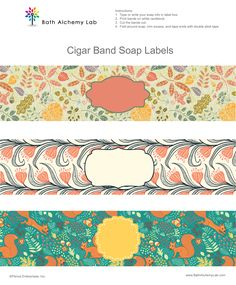 Free Soap Cigar Band Soap Wrappers Printables