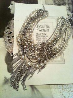 Vintage Wedding Statement Necklace $60