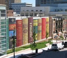 Book-shaped library building.  www.bookcoverideas.com