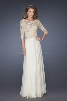 A-Line/Princess Jewel Floor-length Chiffon Mother of the Bride Dress