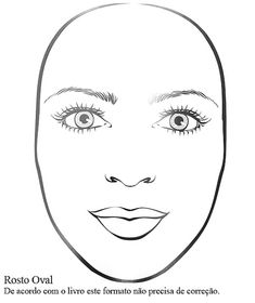 ✏OBLONG FACE: Contour across the lower section of your chin shorten your face. And also you need contour nose and highlights under your eyes and nose too. Makeup Atelier, Makeup Face Charts, Face Template Makeup, Makeup Stencils, Drawing Tutorials For Beginners, Painting Templates, Permanent Makeup Eyebrows, Makeup Training, Fashion Illustration Sketches