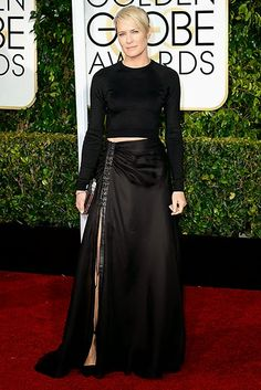 Beatiful Robin Wright wears Ralph Lauren; Golden Globes Winners |