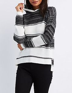 Girls this is what you need in your fall wardrobe! With the trendy high-low affect, this knit hoodie with keep you comfy all day and night long! Pair with our skinny jeans and slip-on sneakers! Long Knit Cardigan, Fall Wardrobe, Sweater Shop, Sweater Outfits, Passion For Fashion, Skinny Jeans, Pullover, Hoodies, My Style
