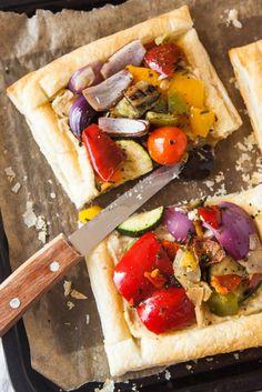 Mediterranean Hummus Tart (Vegan)
