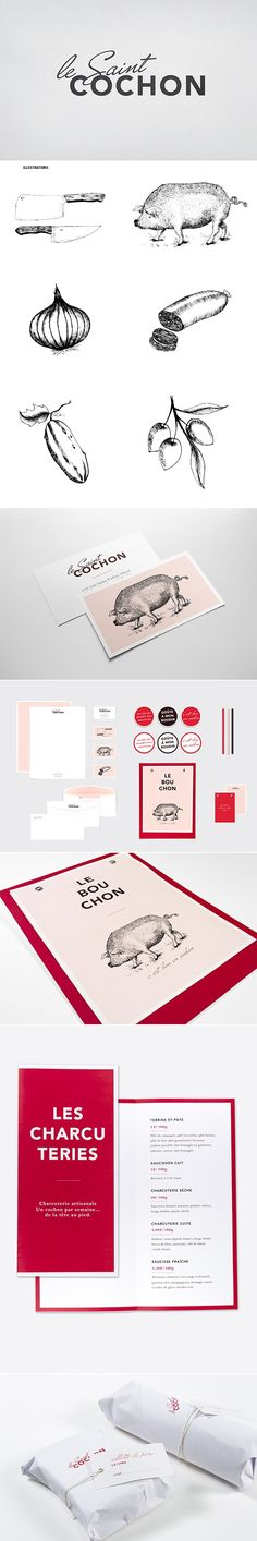 Le Saint Cochon by Marie-Lise Leclerc, via Behance