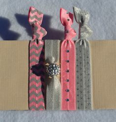 The Ballet II  Hair Ties by ShillysFrillies on Etsy, $5.65