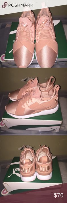 uk availability 59726 09398 Women puma sneakers Pink puma muse satin ep (negotiable) Puma Shoes Sneakers