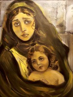 La angustia del refugiado  oleo/lienzo  73x92
