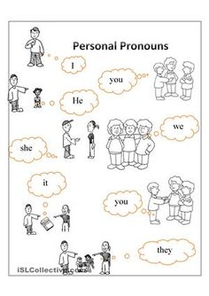 To teach personal pronouns - ESL worksheets