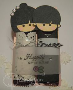 Dandelion Designs: More Chocolate Kokeshis