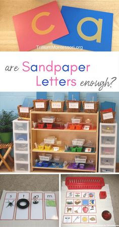 Learning letters and letter sounds: Some ideas to extend the Montessori sandpaper letters