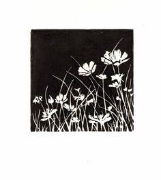 Poppies++Original+Lino+Block+Print+by+okiepokies+on+Etsy