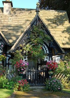 Spirits of Lavender cottage with decorative gable fretwork