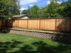Vinyl Fence And Retaining Wall Fence Design Fence
