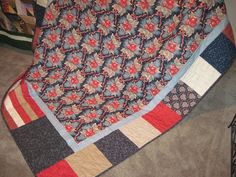Handmade Large Lap/couch Quilt by TheRetiredQuilt on Etsy, $195.00