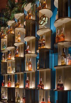 Restaurant Seating, Restaurant Design, Restaurant Bar, Tv Set Design, Display Design, Commercial Interior Design, Office Interior Design, Wine Shop Interior, Bar Counter Design