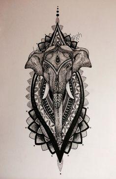 Mandala elephant