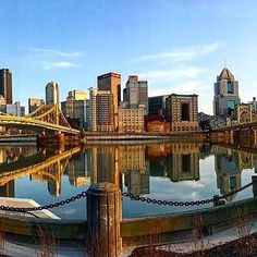 Today's featured photo: the Pittsburgh skyline from Allegheny Landing. Photo by @panormios  #Pittsburgh #PGH #river #bridges #skyline  Follow @WPXI and tag #WPXI for a chance to be featured.