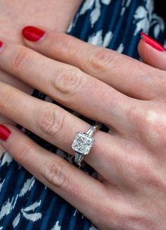 Low Profile 3 Carat Diamond Engagement Ring H/VVS1 GIAn.nSku CNG17903 Vintage Engagement Rings, Diamond Engagement Rings, 3 Carat Diamond, Timeless Fashion, Jewelery, Vintage Jewelry, Fine Jewelry, Profile, Bling