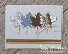 CAS Seasonal Layers leaves | Year of Cheer specialty metallic washi tape; crumb cake, copper and champagne foil cardstock