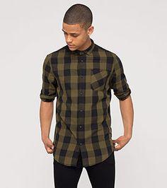 Hemd in der Farbe khaki bei C&A
