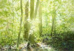 春の水彩画帖 Spring - あべとしゆき水彩画ギャラリー Abe Toshiyuki Watercolor Web Gallery