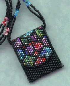 Peyote Purse 17 Necklace Graph Pattern Beaded Boxes Purses Jewelry Patterns