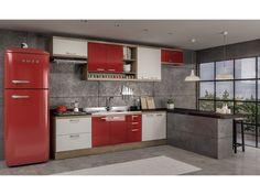 Cozinha Compacta Multimóveis Sicília - com Balcão 10 Portas 5 Gavetas - Cozinhas Compactas - Magazine Luiza