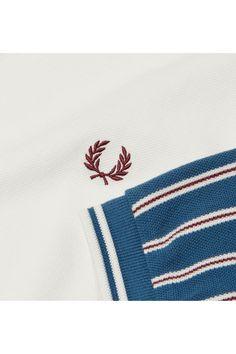 Our classic cotton piqué polo shirt, with a vertical stripe design on the sleeves. Pique Polo Shirt, Fred Perry, Stripes Design, Snow White, Sleeves, Cotton, Shirts, Snow White Pictures, Sleeping Beauty