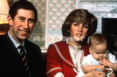 December 22, 1982: Prince Charles and Princess Diana with Prince William at Kensington Palace.