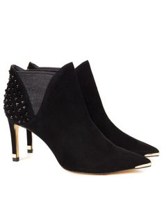 Studded heel boot - Black | Footwear | Ted Baker UK