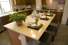 #Kitchen Idea of the Day: Kitchen island with seating for three.